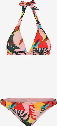 Shiwi Bikini en turquoise / jaune / vert foncé / rose clair / rouge, Vue avec produit