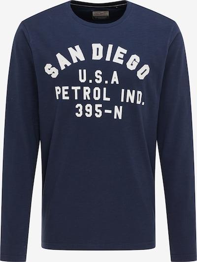 Petrol Industries Shirt in de kleur Donkerblauw / Wit, Productweergave