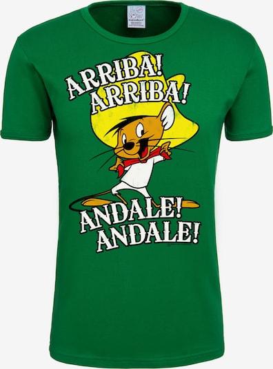 LOGOSHIRT Looney Tunes T-Shirt 'Arriba! Andale!' in grün / mischfarben: Frontalansicht