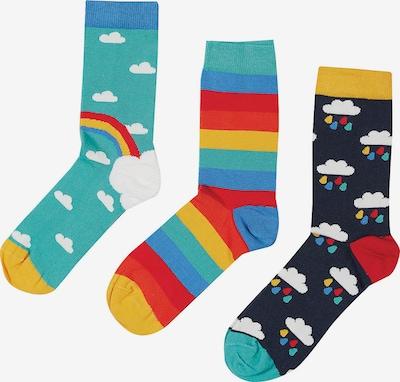 Frugi Kinder Socken, 3er-Pack, Organic Cotton in türkis / dunkelblau, Produktansicht