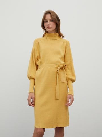 Rochie tricotat 'Malene' de la EDITED pe galben