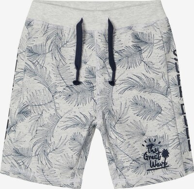 NAME IT Shorts 'NMMJAZZO LIGHT SWEAT LONG SHORTS UNB' in grau / weiß, Produktansicht