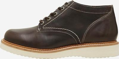 SELECTED HOMME Chaussure à lacets en chocolat / blanc, Vue avec produit
