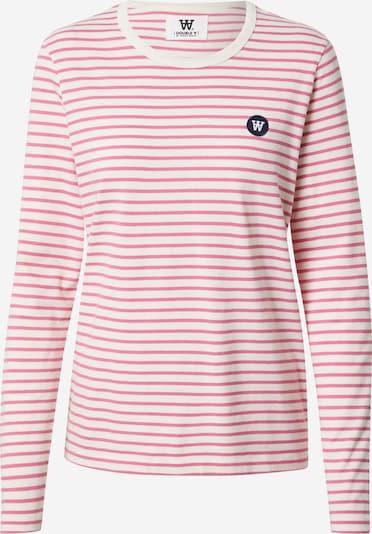 WOOD WOOD Μπλουζάκι 'Moa' σε ροζ / λευκό, Άποψη προϊόντος
