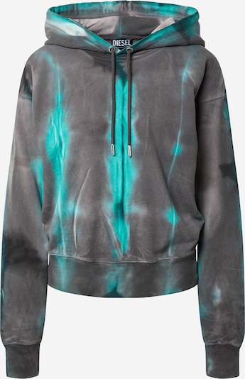 DIESEL Sweatshirt i antracit / jade / vit, Produktvy