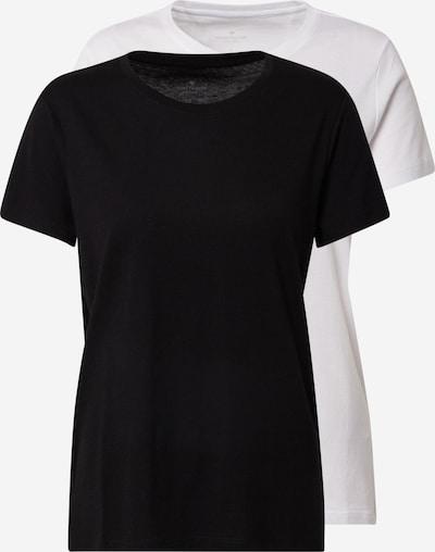 TOM TAILOR Shirt in schwarz / weiß, Produktansicht