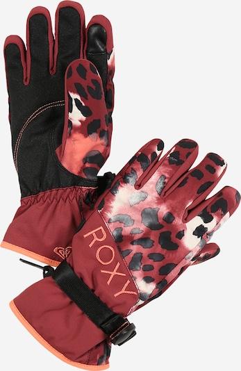 ROXY Handschuhe 'Jetty' in rot / schwarz, Produktansicht