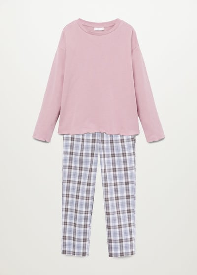 MANGO KIDS Pyjama in blau / pink, Produktansicht