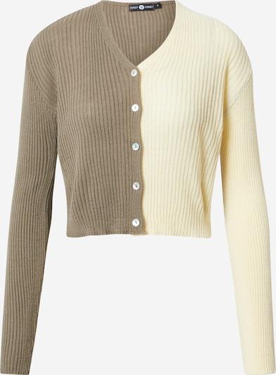 Daisy Street Gebreid vest '90'S' in de kleur Bruin / Geel, Productweergave