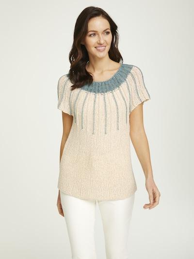 heine Pullover in beige / blau, Modelansicht