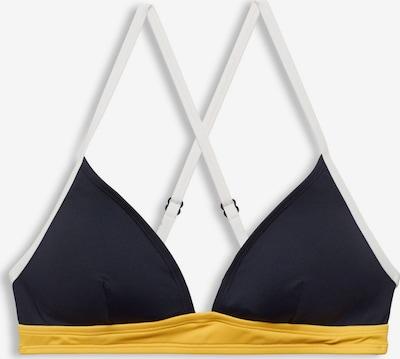 ESPRIT Bikinitop in navy / gelb / weiß, Produktansicht