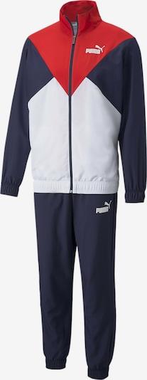 PUMA Trainingsanzug in navy / feuerrot / weiß, Produktansicht