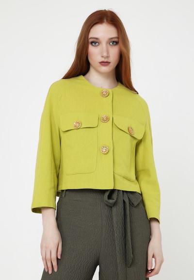 Madam-T Blazer 'EDEN' in gelb, Modelansicht