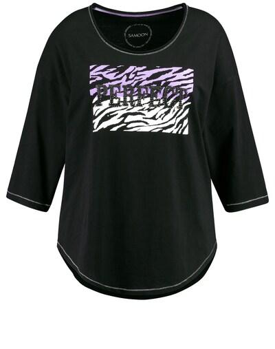 SAMOON T-Shirt 3/4 Arm in schwarz, Produktansicht