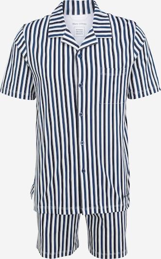 Marc O'Polo Bodywear Pyjama 'Classic Design ' in blau / weiß, Produktansicht