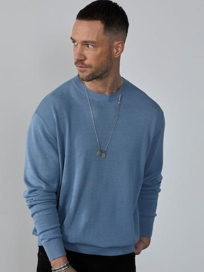 DAN FOX APPAREL Pullover 'Gregor' in blau: Frontalansicht
