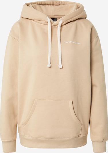 Colourful Rebel Sportisks džemperis, krāsa - smilškrāsas / balts, Preces skats