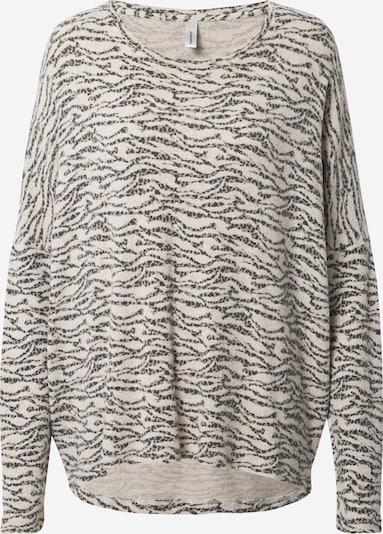 Soyaconcept Shirt 'Biara' in de kleur Crème / Donkerbeige / Zwart, Productweergave