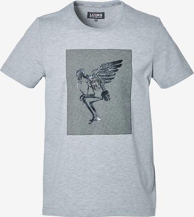 LOOKS by Wolfgang Joop T-Shirt ' Engel ' in graumeliert / silber, Produktansicht