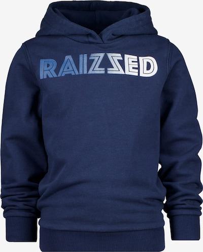 Raizzed Sweat 'MANNING' en bleu roi / bleu foncé / blanc, Vue avec produit