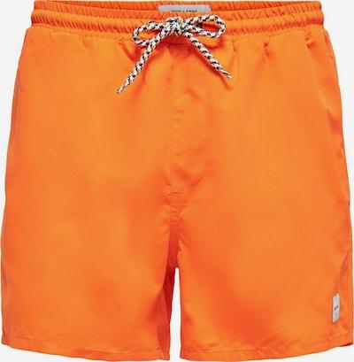 Only & Sons Zwemshorts in de kleur Sinaasappel: Vooraanzicht