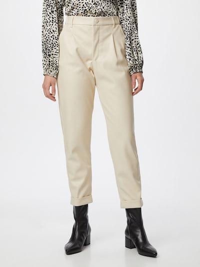 Freequent Plisované nohavice - béžová: Pohľad spredu