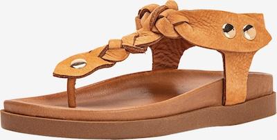 INUOVO Séparateur d'orteils en marron, Vue avec produit