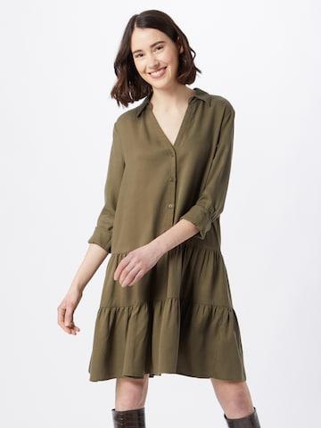ESPRIT Рокля тип риза в зелено