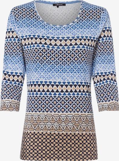 Olsen Shirt in beige / blau / braun / weiß, Produktansicht