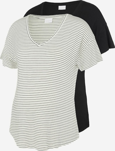 MAMALICIOUS T-shirt 'MLALISON' en gris / noir / blanc, Vue avec produit