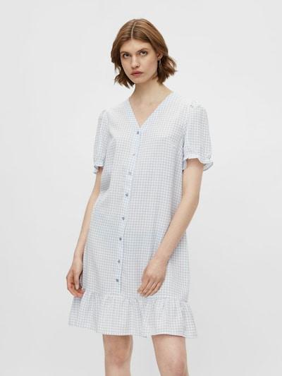 PIECES Robe-chemise 'Sienna' en bleu clair / blanc: Vue de face