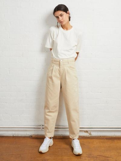 Aligne Džíny se sklady v pase 'Carolyn' - béžová, Model/ka