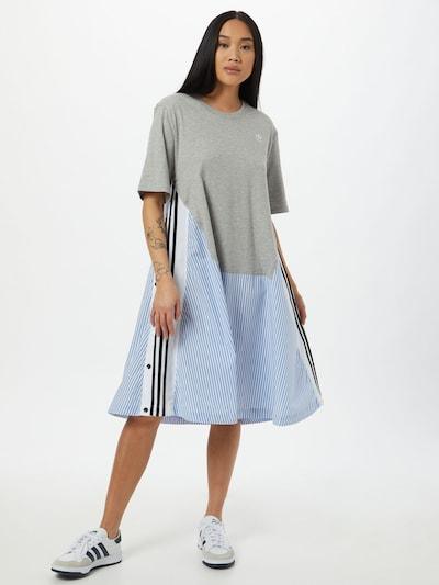 ADIDAS ORIGINALS Šaty - světlemodrá / šedý melír / černá / bílá, Model/ka