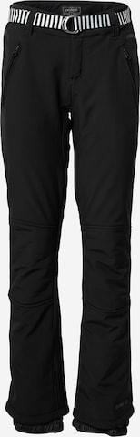 PROTEST Spodnie outdoor 'RAMI' w kolorze czarny