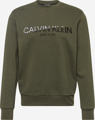 Calvin Klein Sweatshirt in Khaki / Black / White, Item view