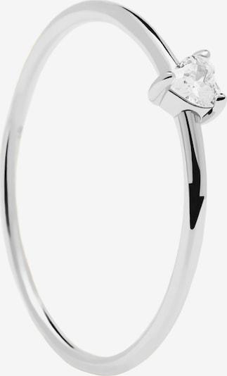 P D PAOLA Anillo 'White Heart' en plata, Vista del producto