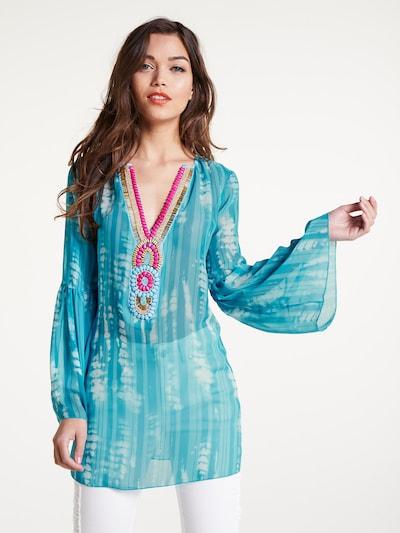 heine Tunique en turquoise / mélange de couleurs, Vue avec modèle