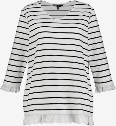 Ulla Popken Sweatshirt in de kleur Zwart / Offwhite, Productweergave