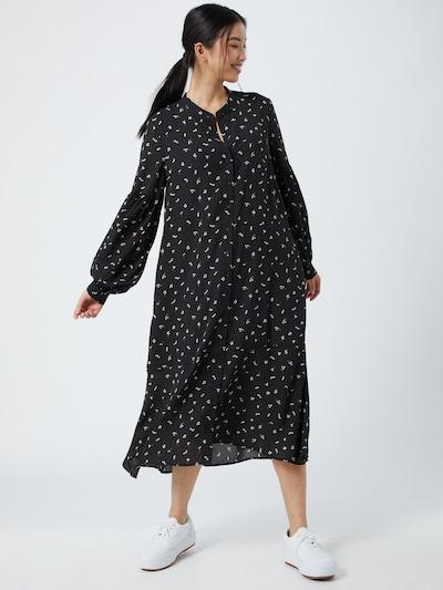 JUST FEMALE Kleid 'Hydra' in khaki / schwarz / weiß, Modelansicht