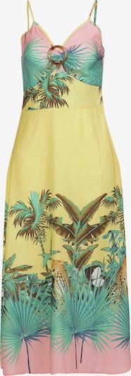IZIA Kleid in blau / braun / gelb / mint / rosa, Produktansicht