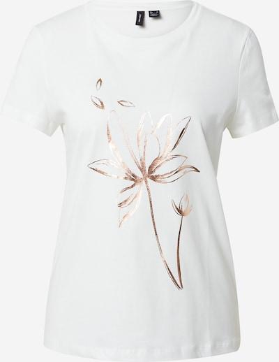 VERO MODA Shirt 'ALMAFRANCIS' in bronze / weiß, Produktansicht