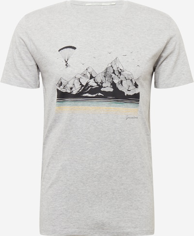 GREENBOMB Shirt 'Bike Fly' in blau / gelb / grau / anthrazit, Produktansicht