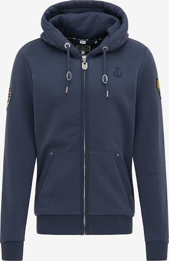DreiMaster Maritim Tepláková bunda - námornícka modrá / zlatá žltá / čierna, Produkt