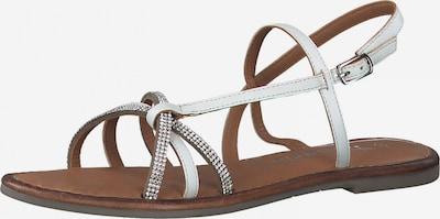 TAMARIS Páskové sandály - stříbrná / bílá, Produkt