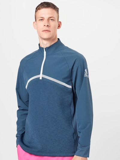 adidas Golf Sweat de sport 'HYBRID' en bleu / argent: Vue de face
