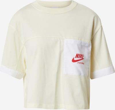Tricou Nike Sportswear pe galben pastel / roșu / alb, Vizualizare produs