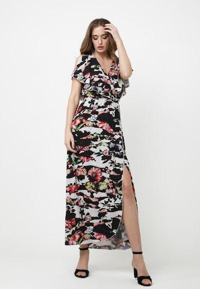 Madam-T Sommerkleid 'Kirsten' in grün / pitaya / schwarz / weiß, Modelansicht