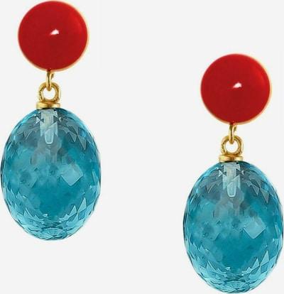 Gemshine Oorbellen in de kleur Blauw / Goud, Productweergave