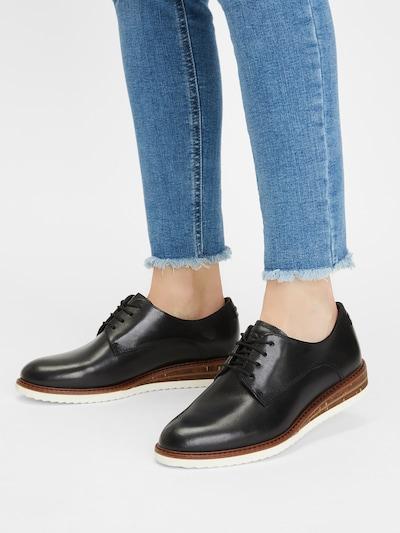 fekete TAMARIS Fűzős cipő: Elölnézet