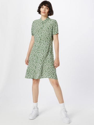PIECES Shirt Dress 'Rebecca' in Green